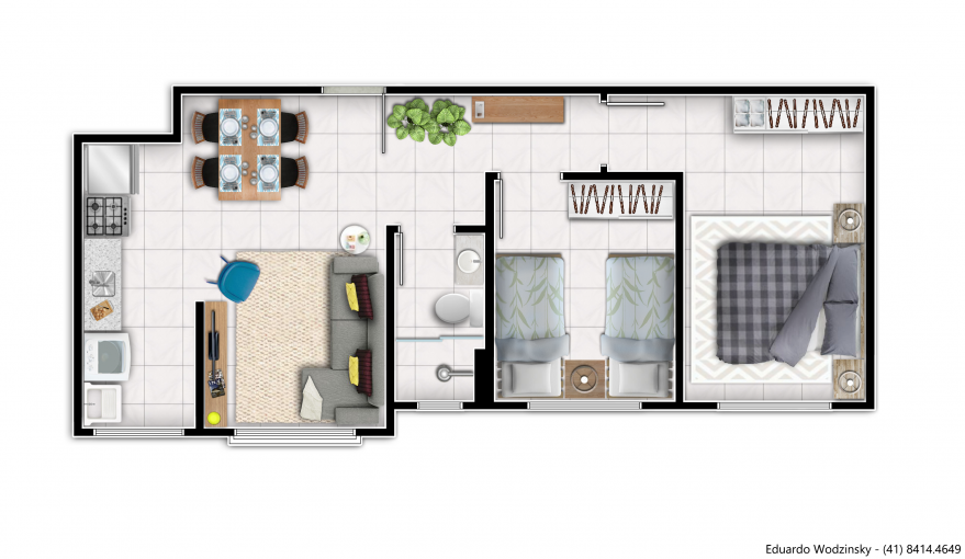 Planta do apartamento tipo 1